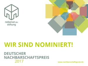 Nominierung Nachbarschaftspreis 2017